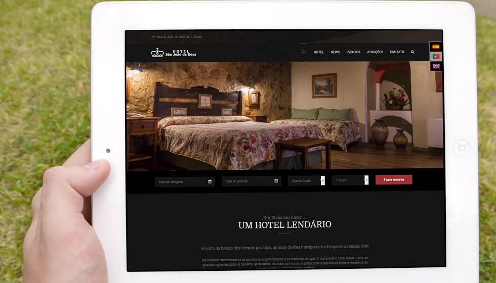 Hotel Sao Joa de Deus Diseño web utreromedia, diseño web badajoz, diseño web extremadura, diseño web hotel