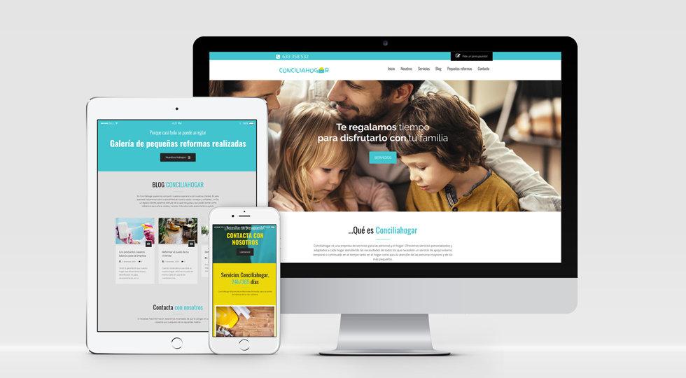 diseño web responsivo conciliahogar