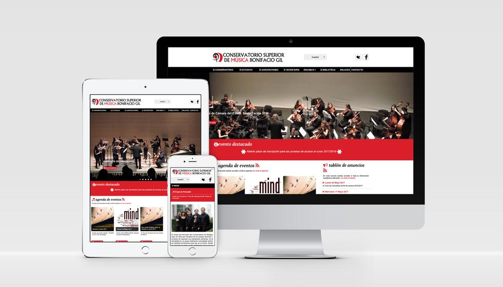 diseño web conservatorio superior de música de badajoz