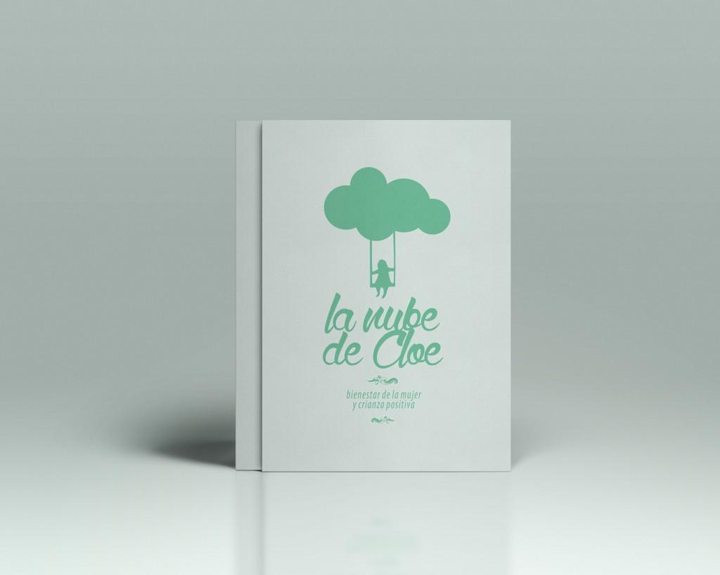 diseño de logotipo la nube de cloe