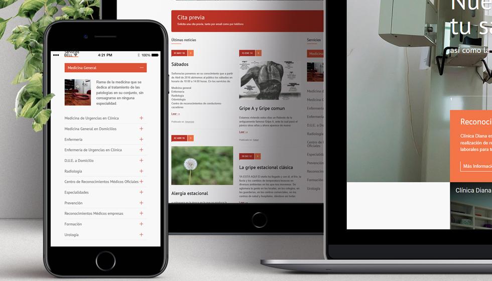 diseño web clinica diana