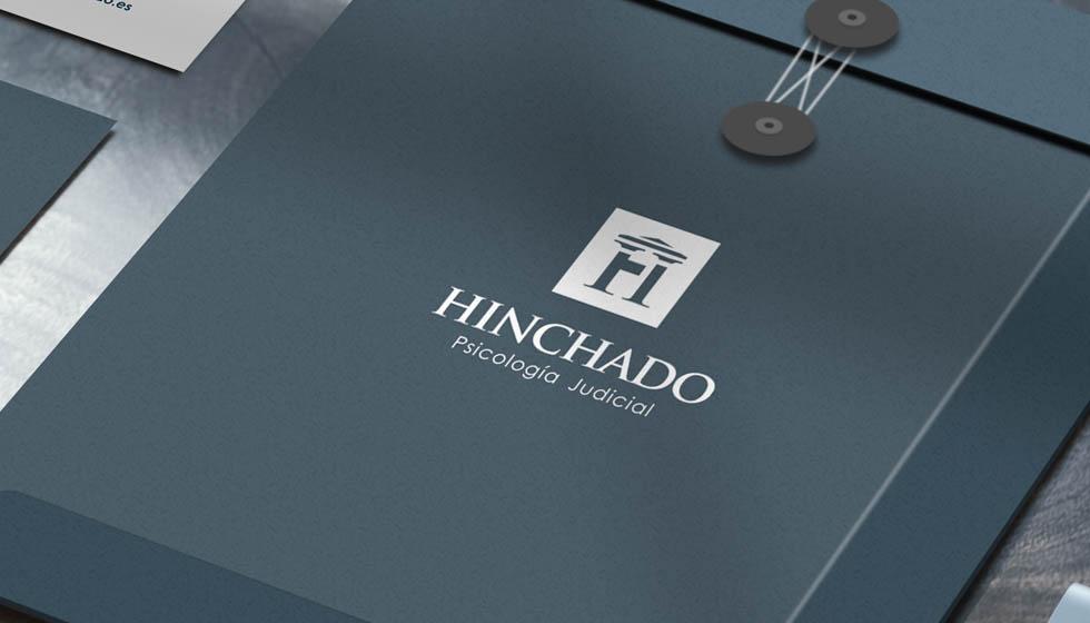 diseño de logotipo marca HInchado Psicología Judicial