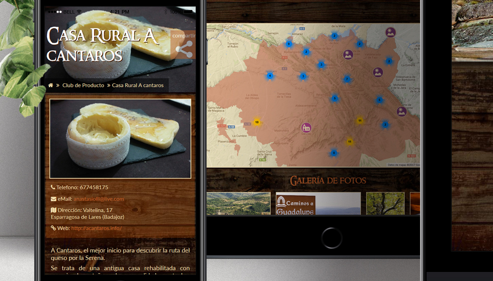 diseño ruta del queso de extramadura